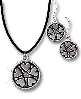 Valdres Rose Necklace or Earrings