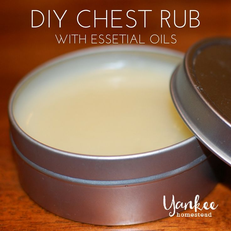 DIY Chest Rub {with essential oils} - http://yankeehomestead.com/2013/11/12/diy-chest-rub-essential-oils/
