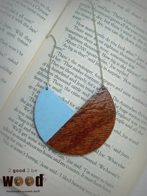 Handmade & Handpainted Wooden Geometric / Minimal Necklace