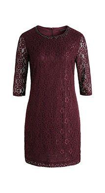 Esprit / Kleid aus Spitze mit Schmuckelementen