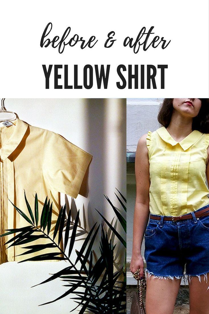 Przed i po. Renowacja żółtej bluzki. #before&after