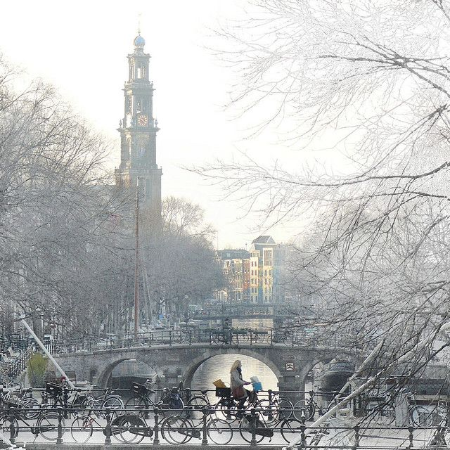 Amsterdam, Netherlands: Amsterdam Snow, Amsterdam Netherlands, Favorite Places, Cities, Frosty Amsterdam, Beautiful Places, Amsterdam Holland, The Netherlands, Amsterdambuild Architecture