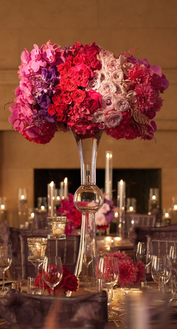 Stunning wedding centerpieces nd edition purple