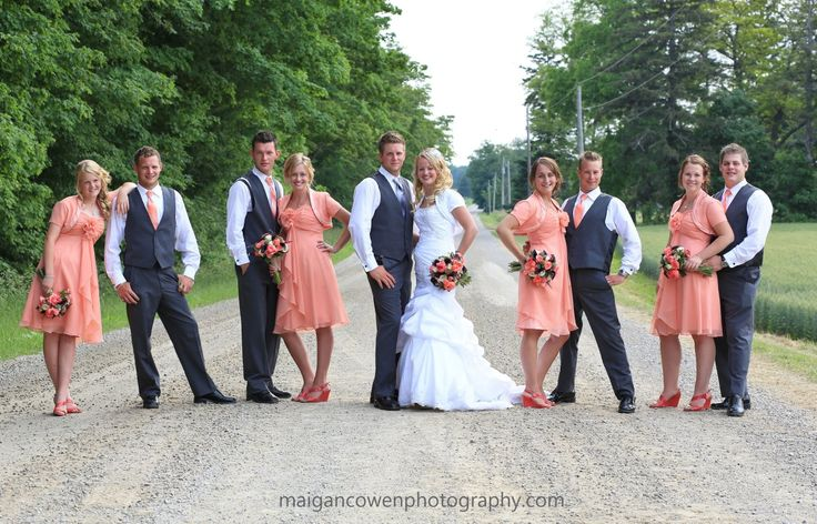 like that each couple is posed differently... might bring bride and groom to the foreground more?