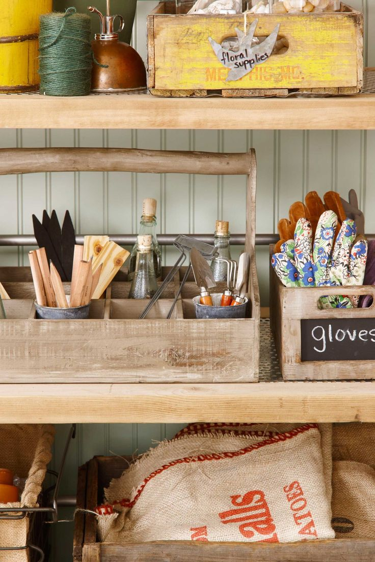 The garage turned garden shed storage ideas country living - See How This Garage Was Turned Into An Instant Garden Shed