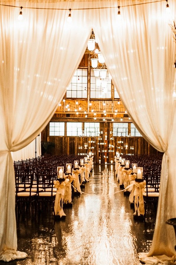 beautiful lights & use of curtains!