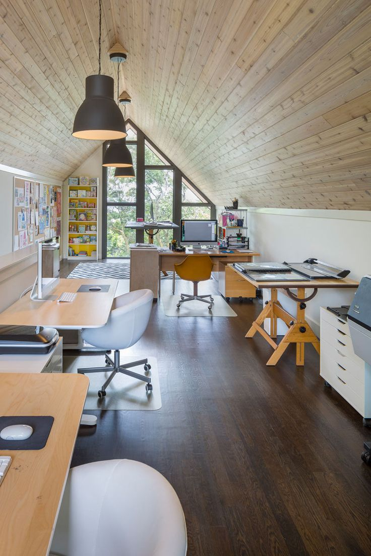 15 Awesome Examples Where Windows Follow The Roofline // These windows fit perfectly into the wall in a geometric style and follow the roof line all the way to floor of the room.