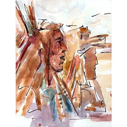 Cowboy et Indien #watercolor #art