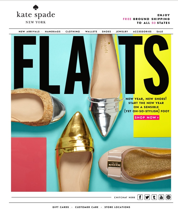 """nice idea- I would have used the shoe as the """"A""""in flats to make it even more dynamic"""