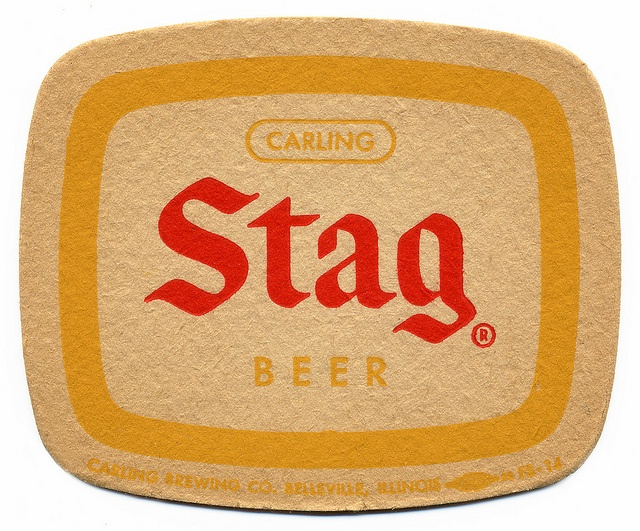 Stag Beer   Carling Brewing Company. Belleville, Illinois