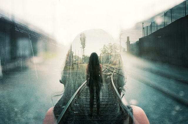 Awesome double exposure.