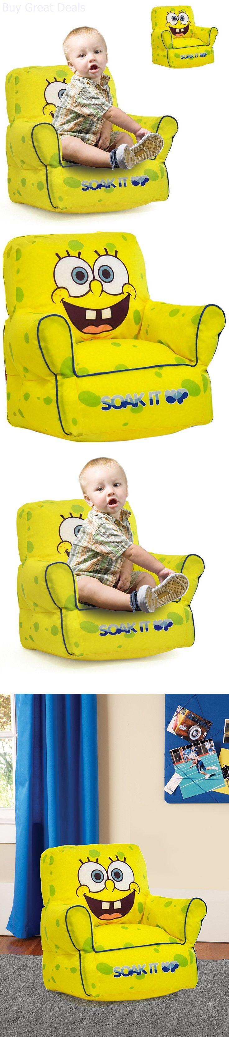 SpongeBob Squarepants 20919: Bean Bag Spongebob Squarepants Soak It Up Toddler Lounge Kids Sofa Chair -> BUY IT NOW ONLY: $35.14 on eBay!