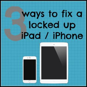 iPad freeze up? iPhone locked up? iPhone app not responding? Here are 3 quick and easy ways to cure a locked up iPhone / iPad. The best iPhone tips, tricks and hacks that actually help you use your iPhone!