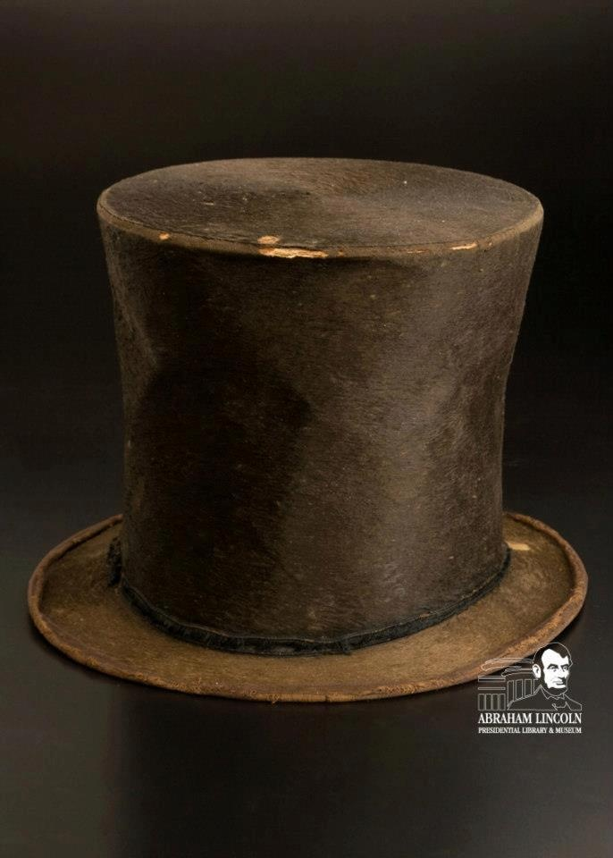 Abraham Lincoln's hat is now on display at the Lincoln Presidential Library and Museum