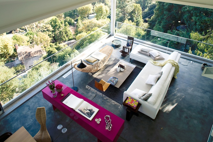 great loft: Living Rooms, Interiors Photography, Pink Couch, Open Spaces, Living Room Design, The View, Work Spaces, Interiors Design, Modern Living Room