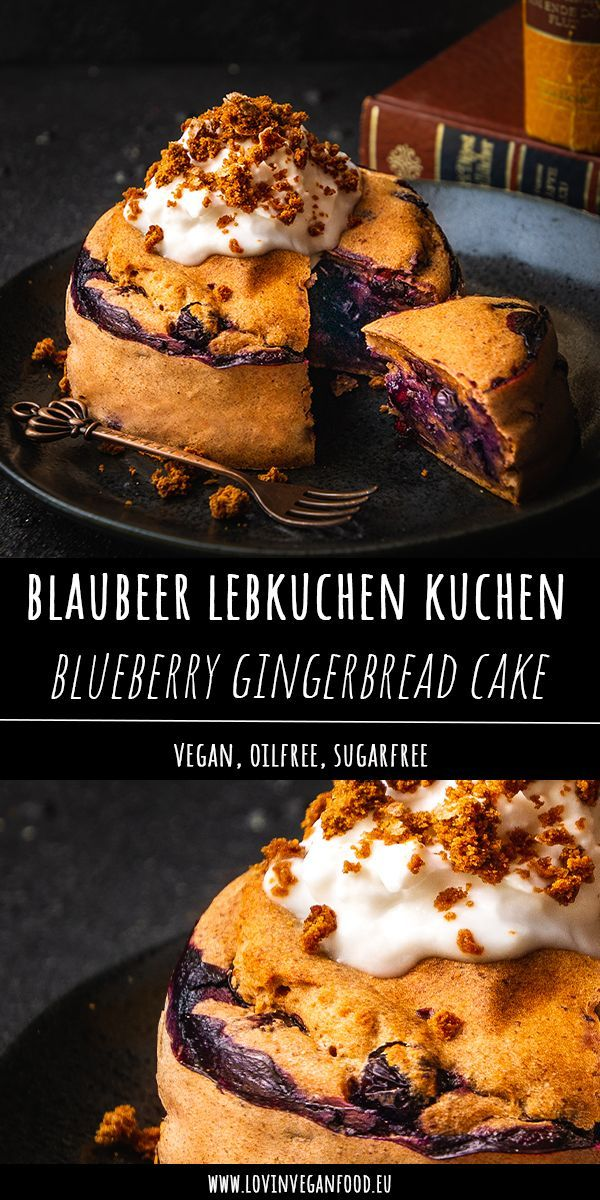 Blueberry Gingerbread Cake