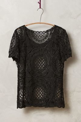 Anthropologie Cutwork Lace Tee #anthroregistry