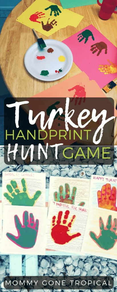 Turkey Handprint Hunt Game