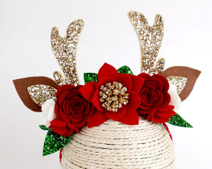 Now availabe on our store Reindeer - Luxe Antler horn flower crown headband - Christmas Check it out here! [product-url