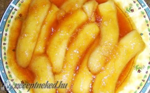Mézkaramellás sült banán recept fotóval