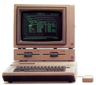 Apple IIe computer from 1983.
