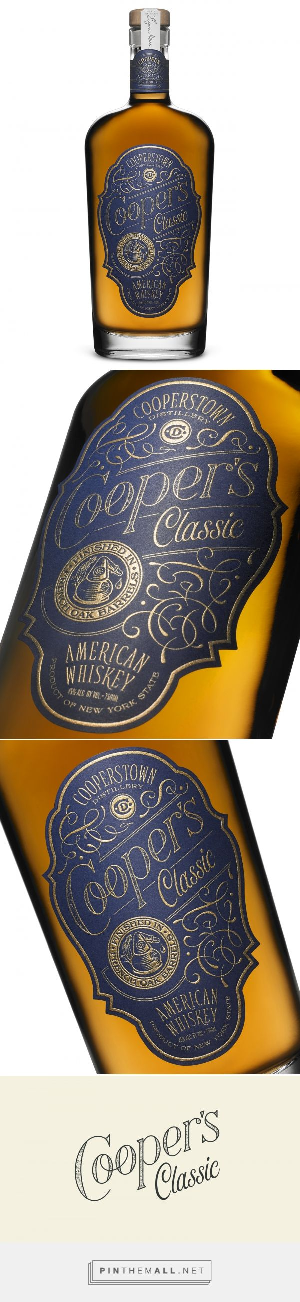 Cooper's Classic Whiskey - Packaging of the World - Creative Package Design Gallery - http://www.packagingoftheworld.com/2017/01/coopers-classic-whiskey.html
