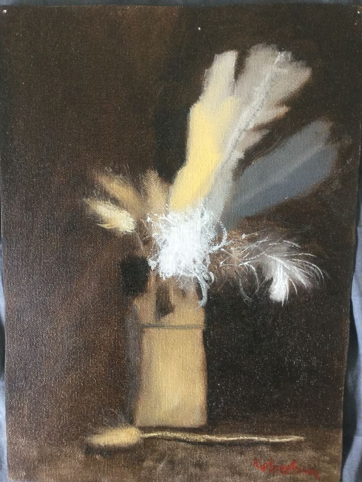 Feathers in a jar