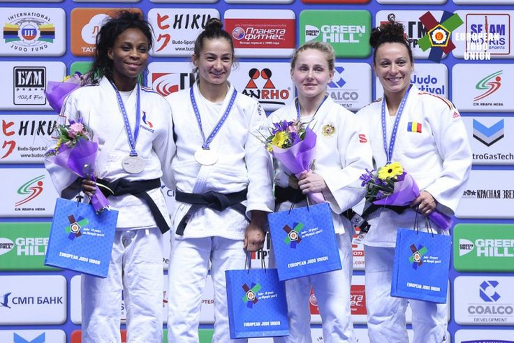 Majlinda Kelmendi (KOS), Priscilla Gneto (FRA), Andreea Chitu (ROU), Yulia Ryzhova (RUS) - European Championships Kazan (2016, RUS) - © Emanuele Di Feliciantonio, EJU