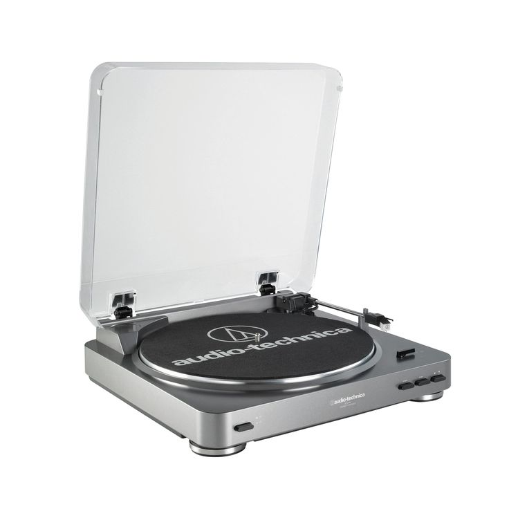 Amazon.com: Audio Technica AT-LP60 Fully Automatic Stereo Turntable System, Silver: Musical Instruments