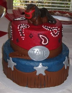 Cowboy Baby shower cake or Birthday cake