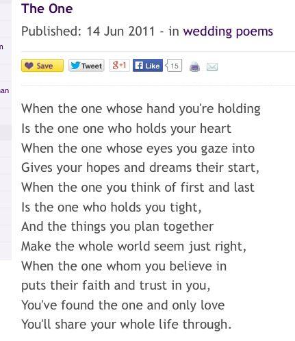 Best 25 Wedding Readings Poems Ideas On Pinterest