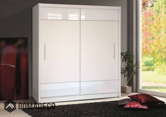White Wardrobe Single Door Wardrobe Small Wardrobe Sliding