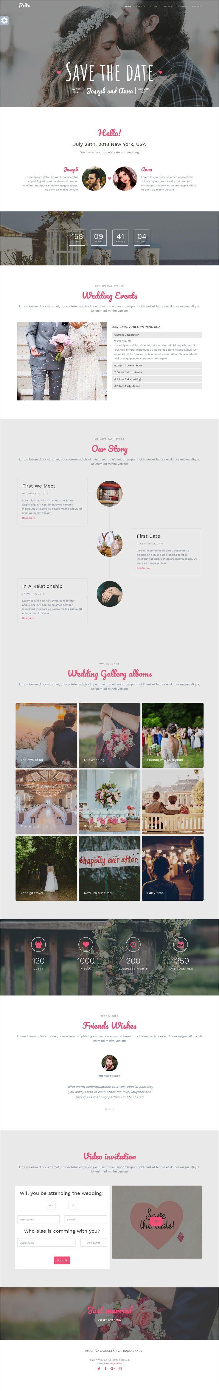 wedding invitation template themeforest%0A Belle  Responsive Wedding Template