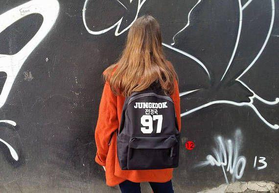 Mochila niños de escuela BTS bangtan más allá de la etapa jungkook suga negro de j-esperanza de jin jimin taehyung rap monster bolsa de impresiones varias