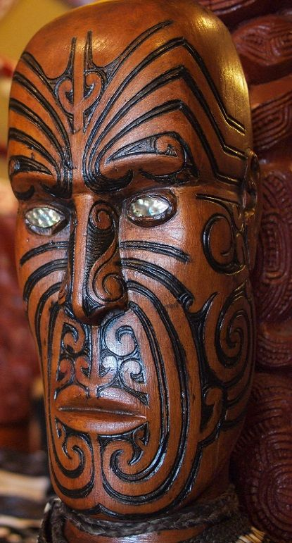 Maori traditional Wharenui (ritual big house) - New Zealand