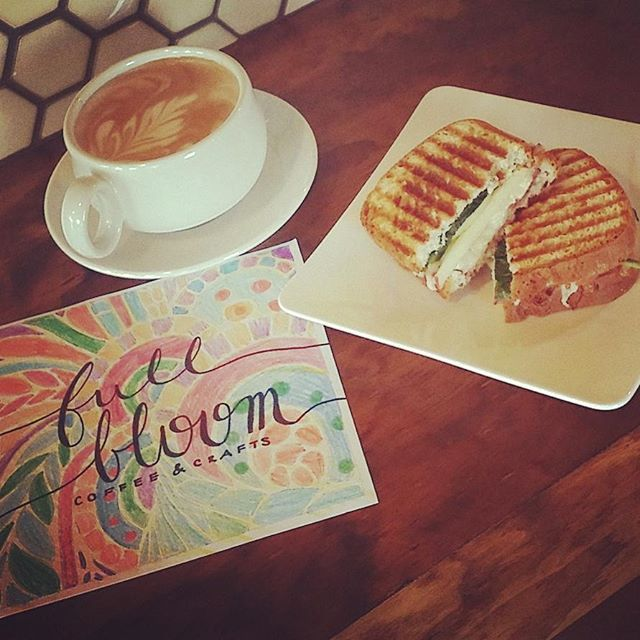See you for lunch! We're serving up great tasting paninis & fresh roasted coffee - for here or to go!  )(  )(  )(  #lunchtime #paninis #lunch #cafe #lunchmenu #coffee #latte #forhereortogo #coffeeandcraft @downtowngarner #grablunchout #adultcoloring #coffeeandcoloring