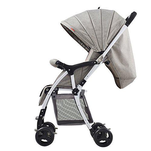 XUERUI Sillita De Bebé Carrito Plegable Cómoda Comodidad Hermosa Seguridad 3 Colores ( Color : Gris )