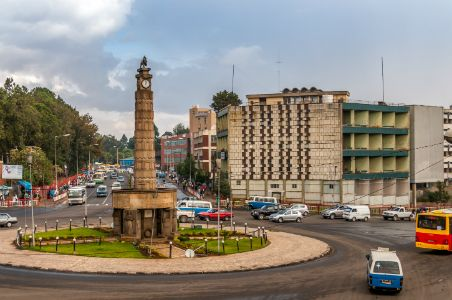 Miazaiya 27 square, and monument, Arat kilo, :Addis Ababa, Ethiopia