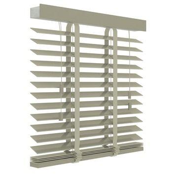 GAMMA horizontale jaloezie hout 50 mm 945 leem 100x220 cm | Horizontale jaloezieën | Raamdecoratie | GAMMA