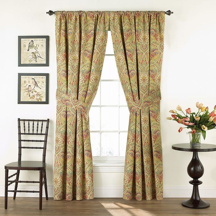 Waverly 2-pack Swept Away Floral Curtains, Yellow