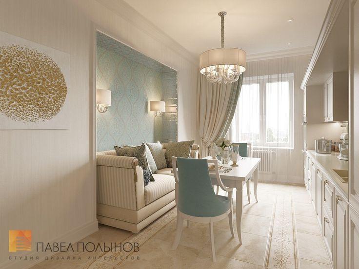 Фото: Кухня - Интерьер двухкомнатной квартиры в ЖК «Классика», 75 кв.м.