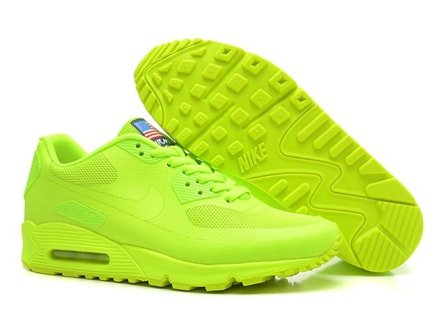 new products bf5ba dd362 Nike Air Max 90 Hyperfuse QS Womens Shoes All Lemon Green   shoes in 2019   Nike  air max, Air max sneakers, Cheap nike air max