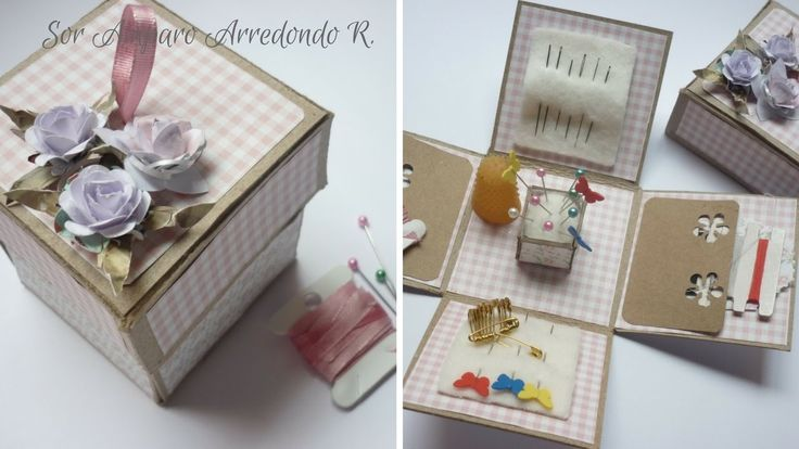 Manualidades: COMO hacer COSTURERO Fácil para REGALAR Scrapbook DIY ♥