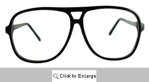 Slide Rule Oversized Clear Glasses - 568 Black