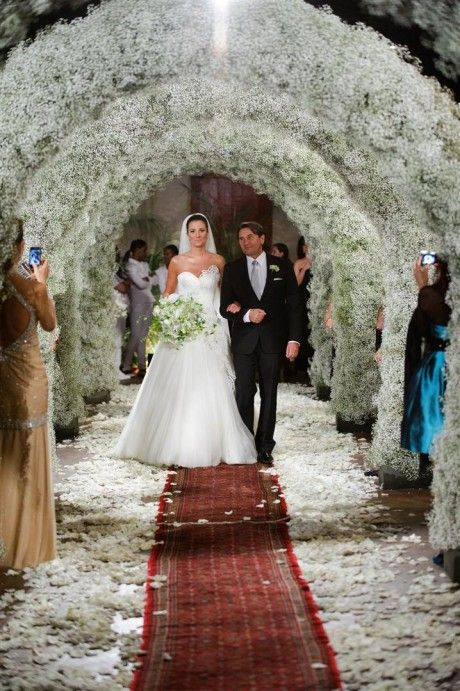 floral arches wedding decor babys breath wedding