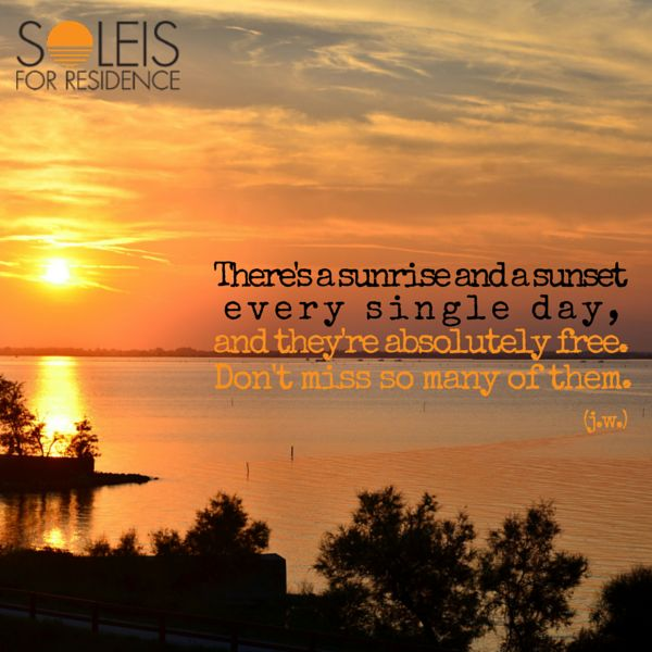 There's a #sunrise and a #sunset every single day, and they're absolutely free. Don't miss so many of them! #quote #soleis #realestate #forsale #lignano #italy