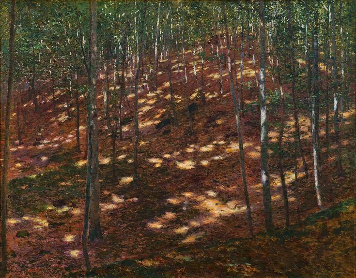Antonín Slavíček, Slunce v lese, 1898, olej na plátně