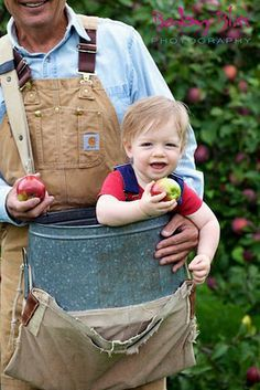 Helping Grandpa Pick Apples