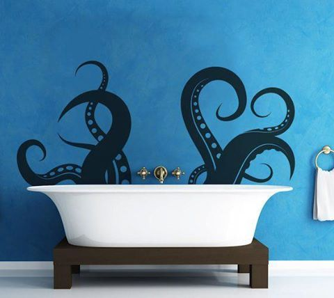 Octopus bathtub! This would be cute in a kid's bathroom