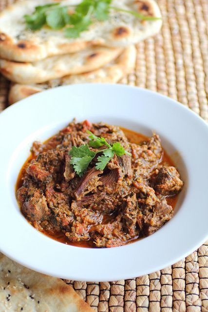 Beef Korma, Afghan style- I love anything I can through in the slow cooker- so here is another one.